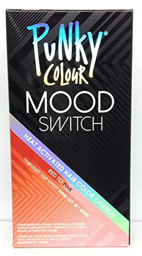 Punky Farbe Stimmung Schalter Hitze aktivierter Haarfarbe ändern, temporärer Haar-Effekt Rot zum Rosa