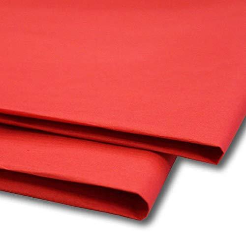 """Sabco - Papel de seda, 100 hojas, papel de regalo, sin MG ni ácidos, tamaño de 50 x 75 cm, papel para envolver, decorativo y papel de corte para manualidades 20 x 30"""" rosso"""