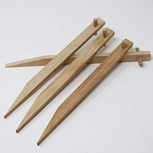 Aquagart Erdanker 70 Stück aus Buchenholz I Holz Bodenanker Holzpflock für Jute-Gewebe Böschungsmatte Ufermatte Kokos-Gewebematte I Befestigungspflöcke Länge 30 cm I Holzanker mit Querdübel
