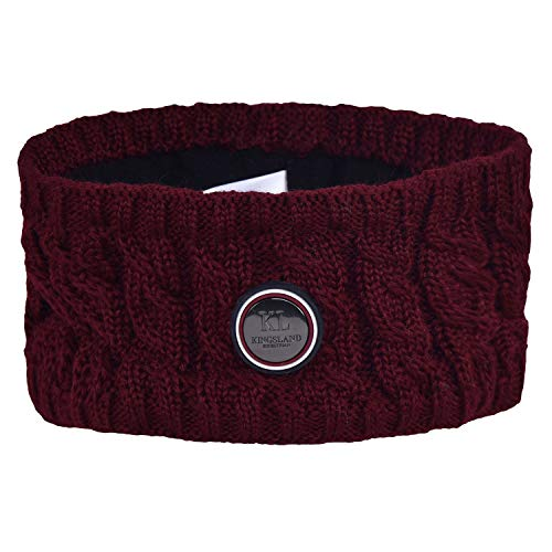 Kingsland Equestrian Saanich Knitted Womens Headband One Size Red Port Royal