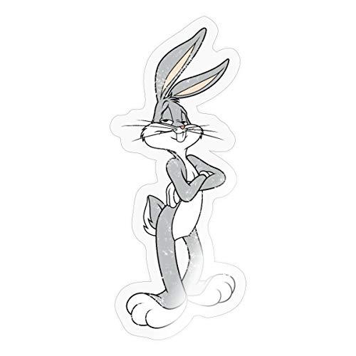 Spreadshirt Looney Tunes Bugs Bunny Vintage Pose Sticker, One Size, Transparent glänzend