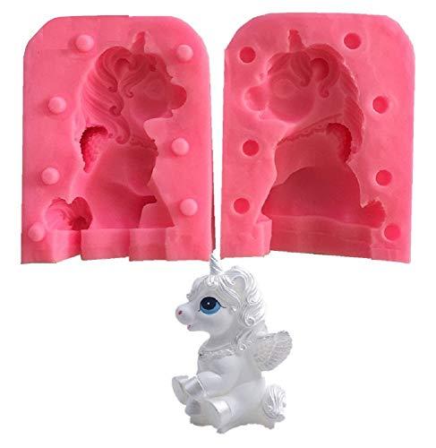 Inception Pro Infinite Stampo in Silicone - per Uso Artigianale - Unicorno Alato - saponi Candele