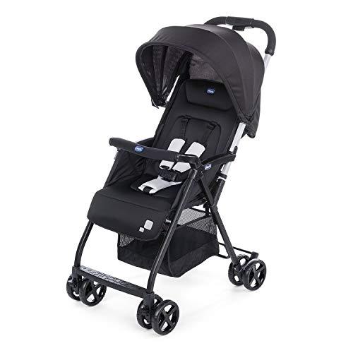 Chicco Ohlala 2 - Silla de paseo ultra ligera y compacta, fácil conducción, solo pesa 3,8 kg, color negro (Black...