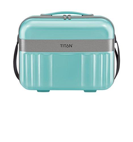 TITAN Handgepäck Kosmetikkoffer mit Liquids Bag + Aufsteckfunktion, Gepäck Serie SPOTLIGHT: Edles Beautycase in trendigen Farben, 831702-81, 38 cm, 21 Liter, mint (türkis)