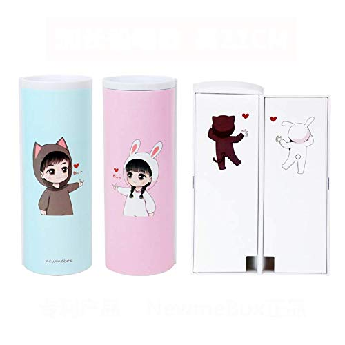 Caja De PapeleríA De Arenas Movedizas Caja de lápices de los niños para niñas Calculadora Anime Plastic Plastic Linda Favorito Favorito Suministros de papelería con caja de lápices de regalo Estuche E