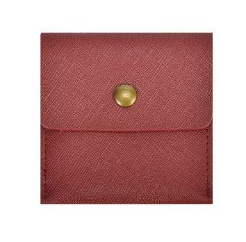 LIly 携帯灰皿 ポータブル レザー 革 ポケット サイズ カラー 6色 (ボルドー)