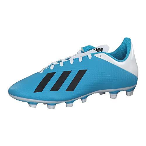 adidas X 19.4 FxG, Scarpe da Calcio Unisex-Adulto, Multicolore (Bright Cyan/Core Black/Shock Pink 000), 42 2/3 EU