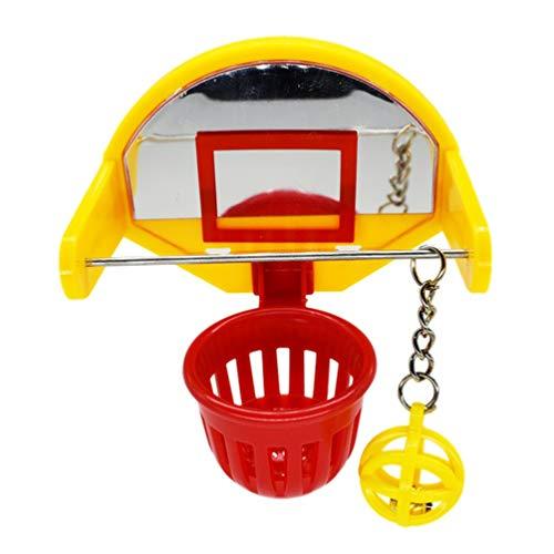 Balacoo Vogel Intellektuelles Spielzeug-Mini-Basketballspielzeug Lustige Papagei Trainingsspielzeug Kauen Aktivität Spielzeug Käfig Zubehör für Wellensittich Sittich Kanarienvogel