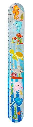Meßlatte Puzzle Seepferdchen Skala von ca. 66 - 152 cm Maße: ca. 88 x 13 cm NEU Erzgebirge Kindermesslatte Maßband