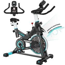 Image of pooboo Indoor Cycling Bike, Belt Drive Indoor Exercise Bike,Stationary Bike LCD Display for Home Cardio Workout Bike Training: Bestviewsreviews