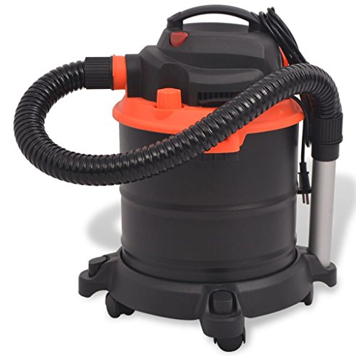 Festnight Aspirateur de Cendres 1200 W 20 L Noir et Orange