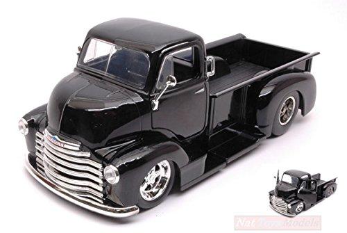 Jada Toys JADA97462 Chevy COE Pick UP Black Chrome Wheels 1:24 DIE CAST Model kompatibel mit