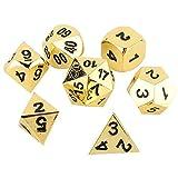 VGEBY1 7 Stücke Multi Side Dice, Polyhedral D & D Würfel Set Metall Tisch Spiel Würfel für Party...