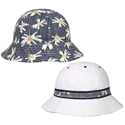 Lipodo Cappello Reversibile Flower Trim Donna - da Sole Estivo Primavera/Estate - S (55-56 cm) Blu