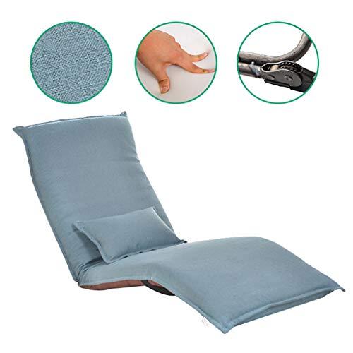 Instelbare Recliners Comfortabele opvouwbare relaxbank, stoel, met buitenkussen, Stable Lounge Stoel, pak voor kantoor, werkkamer, balkon, woonkamer, slaap enz.