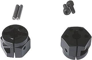 スクエア アルミクランプ六角ホイールハブ (タミヤTT-01 02用) 10mm幅 黒
