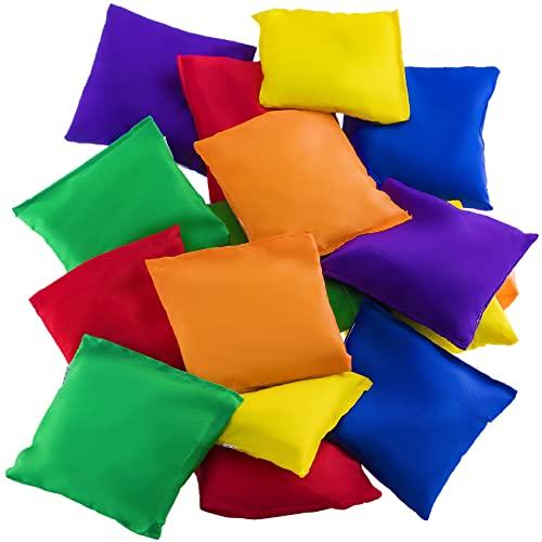 Prextex 12 Pack Nylon Bean Bags Fun Sports Outdoor Family Games Bean Bag Toss Carnival Toy Bean Bag Toss Game