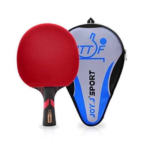 Joy.J, racchetta da ping pong professionale con custodia, racchetta TT con gomma approvata ITTF, perfetta per livello intermedio e avanzato, ., Per principianti e intermedi.