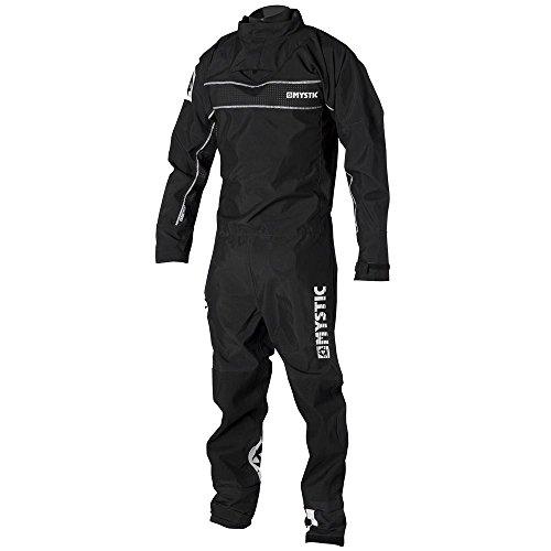 Mystic Wassersport - Surf Kitesurf & Windsurfen zurückzudrängen Zip Drysuit Dry Suit Schwarz. Wasserdicht und atmungsaktiv