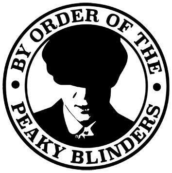 Pro Cut Graphics – 1 x por Order Of The Peaky Blinders – Vinilo adhesivo para ventana de coche, furgoneta, motocicleta, 14 cm x 14 cm