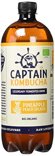 Captain Kombucha Pineapple Peach Splash, Té de Burbuja - 1000 ml