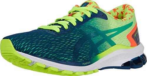 ASICS Men#039s GT1000 9 Running Shoes 115M Safety Yellow/MAKO Blue