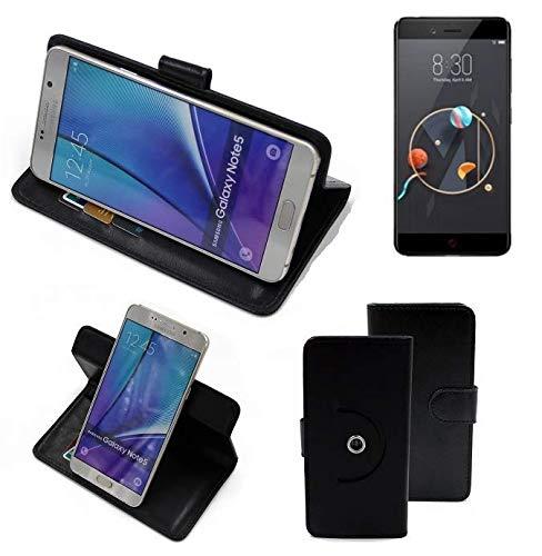 K-S-Trade® Handy Hülle Für Archos Diamond Alpha Flipcase Smartphone Cover Handy Schutz Bookstyle Schwarz (1x)