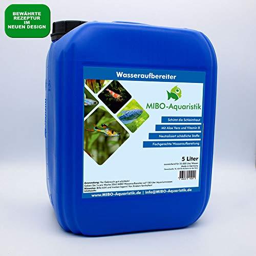 MIBO Wasseraufbereiter 5000 ml Kanister! Wasseraufbereitung ausreichend für 25.000 Liter Aquarium Wasser