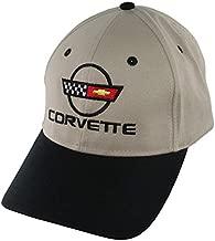 Eckler's Premier Quality Products 25-127421 Corvette Cap With C4 Logo Khaki And Black
