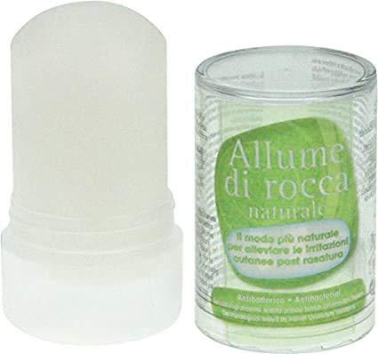 Allume Di Rocca 100% Naturale 120g | Post Rasatura Allevia le Irritazioni senza Alcool e Profumo