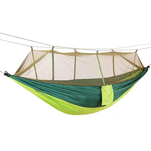 Qinghengyong Parachute Fabric Mosquito Net Sleeping Hammock 2 Person Hammock 2 Person Hanging Anti-mosquito Bites Sleeping Bed Outdoor Camping Hunting Hammock