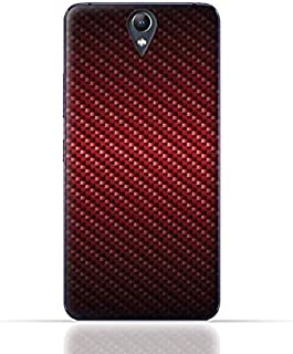 Lenovo Vibe S1 TPU Silicone Case With Red Fiber Pattern Design