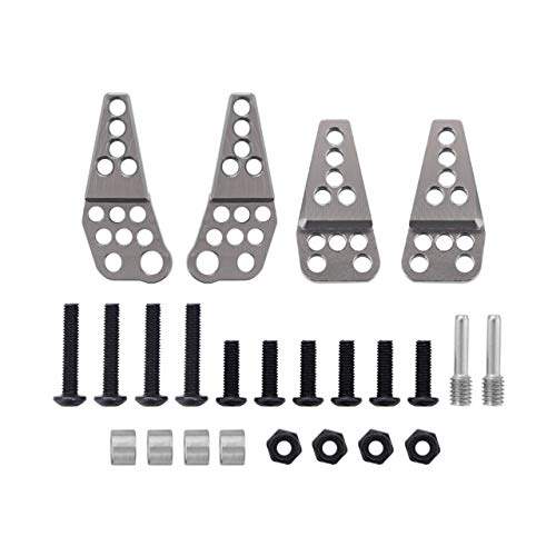 NSH Metall Aluminium Stoßdämpfer Tür verstellbare Stoßdämpferreifen Halterung für 1/10 RC Crawler Auto Axial SCX10 II 90046 90047