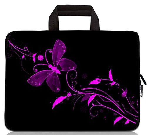 Laptop-Tragetasche aus Neopren, für Chromebook/Tablet, mit Handgriff, Reißverschluss, für 11, 11,6, 12, 12,1, 12,5 Zoll Netbook/Laptop (27,9 - 31,8 cm, Schmetterling)