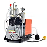 110V PCP Air Compressor, 30Mpa 4500psi High Pressure Preset Auto-stop Electric Air Pump Booster for Paintball Tank Filling Inflation Bottle Pneumatic Airgun Scuba Rifle Inflator