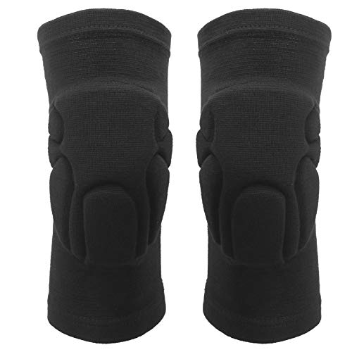 Gaeirt Knee Support, Nylon Protective Knee Pads with Thickened Pad for Volleyball, Basketball, Dance, Breathable Non-Slip Knee Sleeve for Tendonitis, Running, Squats(Small)
