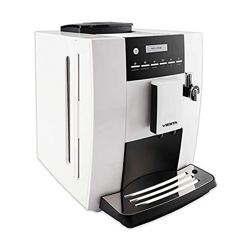 VIESTA Máquina de café CB350 Plus - Alta Potencia (1,8 litros, 19 Bar, 1400 vatios, Pantalla-menú LCD) - Máquina de café...