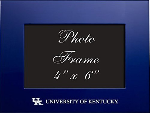 LXG Inc 4x6 Brushed Metal Picture Frame Towson University Black