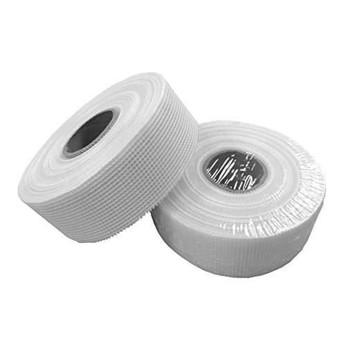 Glasfaser-Gewebeband selbstklebend | 25 Rollen à 50 mm x 90m | Rigips Fugenband reißfestes Reparaturband | Sehr vielseitiges doppelseitiges Gitterband | HP-AM075/050
