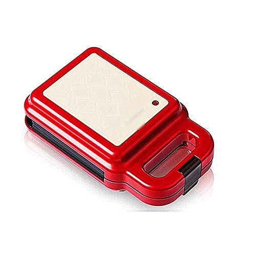 Huachaoxiang Sandwichmaker, Schön Japanischer Stil Sandwich Paninitoaster Tisch Grill Waffeleisen Antihaftbeschichtet Grillplatten American Toast Waffel,Rot