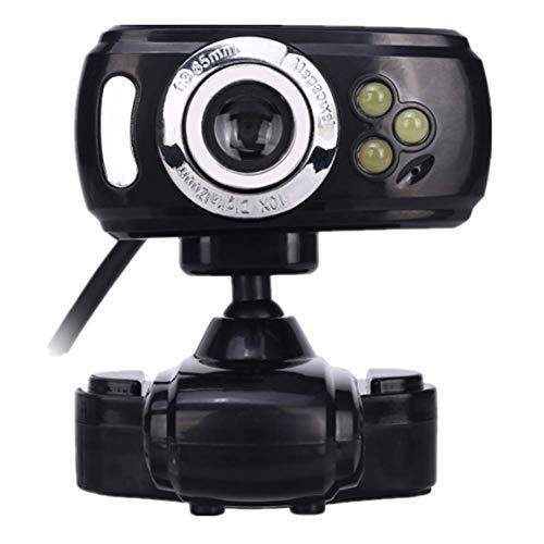 Webcam Ordenador Con 480P HD De La Cámara Y La Luz Del Anillo Del LED Webcam 360 ° Base Giratoria Micrófono Incorporado Enfoque Automático Adecuado Para Vídeo En La Enseñanza Reuniones De Negocios