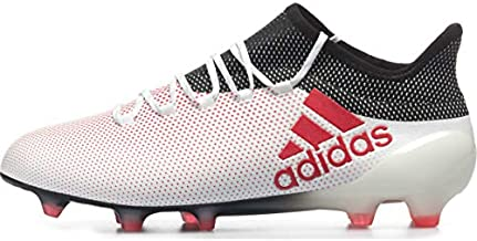 adidas Mens X 17.1 Firm Ground Soccer Casual Cleats, White, 8