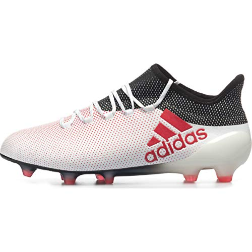 adidas X 17.1 Men's Firm Ground Soccer Cleats (9.5 D(M) US) White/Red/Black