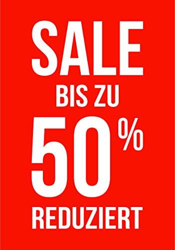 Rahmenplakat/Poster für Sale und Rabattaktionen - Über 27 verschiedene Varianten - DIN A1 Rahmen (Sale 50% Reduziert)