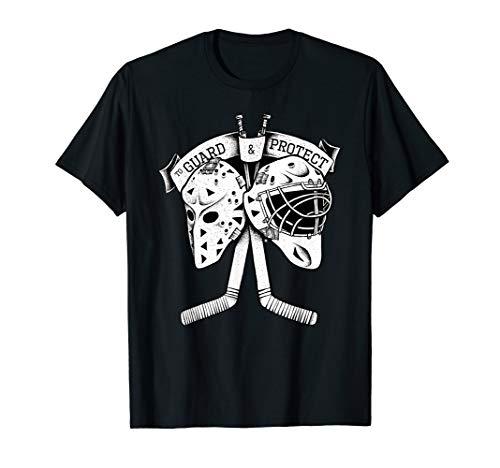 Hockey Tormann Masken goalie masks logo graphic Eishockey T-Shirt