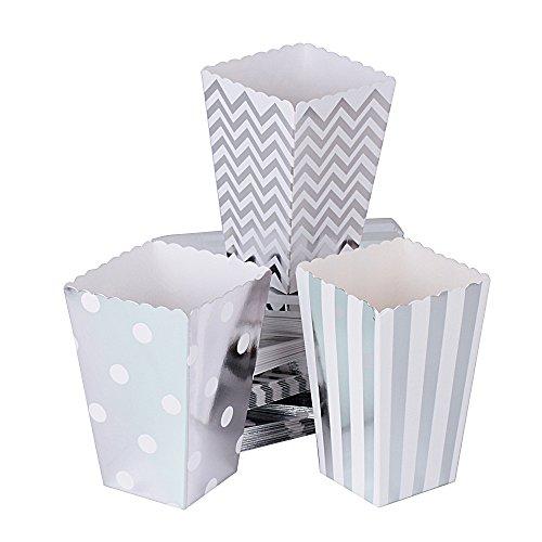 72 Stück Popcorn Boxen Popcorn Tüten Popcorn Schachtel Pappe Party Candy Box Snackbox Kino Box für Snacks, Süßigkeiten, Erdnüsse,Popcorn