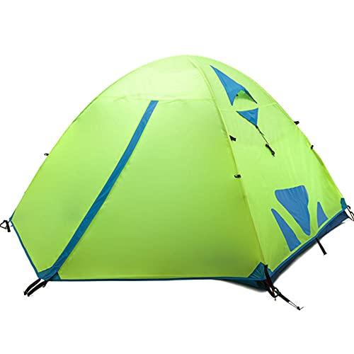 GQYYS Tienda de Campaña 2 Personas Impermeable Ligera 3 Estaciones Doble Capa Carpa A Prueba de UV/Viento Fuerte/Lluvia para Acampar Playa Exterior Senderismo Viaje
