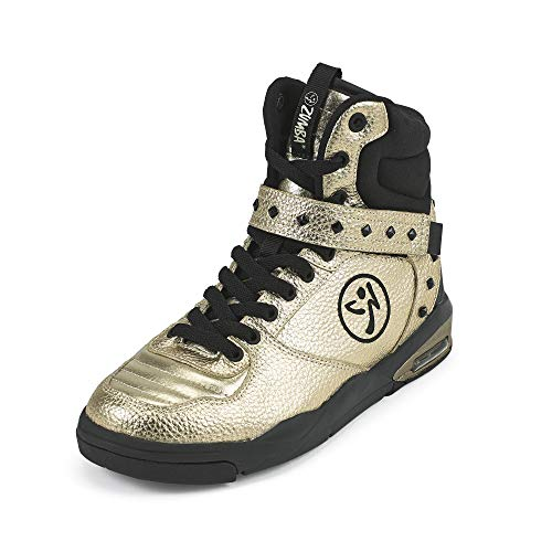 Zumba Air Classic Sportliche High Top Tanzschuhe Damen Fitness Workout Sneakers, Gold, 40.5 EU