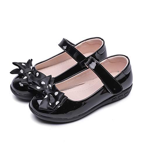 YOSICIL Mocasines para Niñas Zapatos de Princesa Planos Zapatos de Ballet Zapatillas de Danza Baile con Velcro Zapatos para Uniforme Colegio EU25-39
