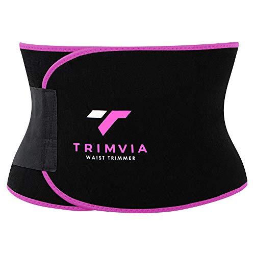 TRIMVIA Waist Trimmer for Women and Men, Waist Trainer for Women and Men, Sweat Belt for Women, Abs Stimulator, Stomach Wraps, Sauna Effect on Abs, Waist Shaper, Tummy Tuck Belt, Premium Neoprene